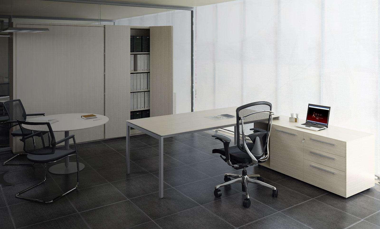 scrivania direzionale del sistema d'arredo per ufficio Cartesio
