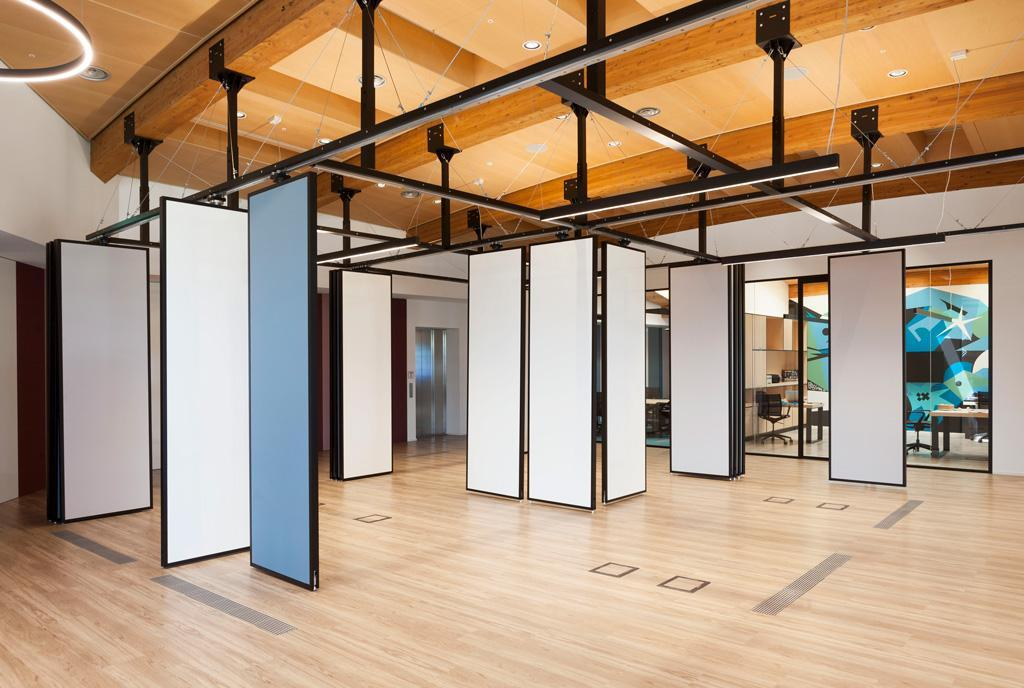interior designed by Faramlab trought a panels system